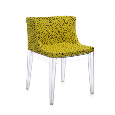 Mademoiselle Memphis Yellow/transparent Chair