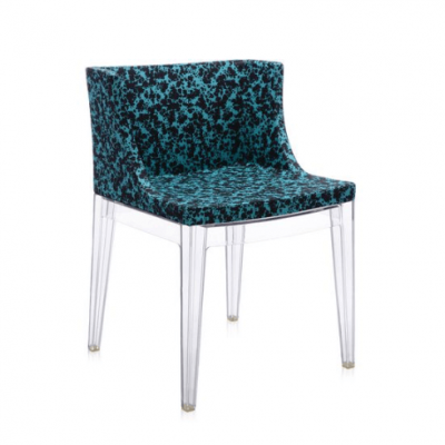 Mademoiselle Memphis Blue/transparent Chair