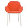 Clap White/orange Chair