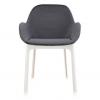 Clap White/dark Grey Chair