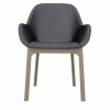 Clap Pvc Dove Grey/dark Grey Chair