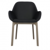 Clap Pvc Dove Grey/black Chair