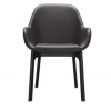 Clap Pvc Grey/black Chair