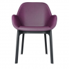 Clap Pvc Black/plum Chair