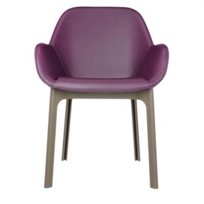 Clap Pvc Dove Grey/plum Chair