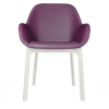 Clap Pvc White/plum Chair
