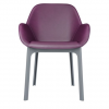 Clap Pvc Grey/plum Chair
