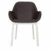 Clap Pvc White/brown Chair
