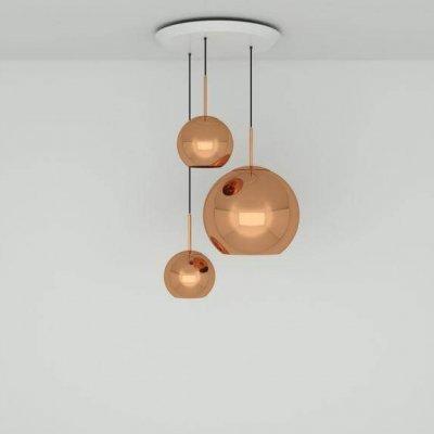 Copper Trio Round Pendant System Pendant